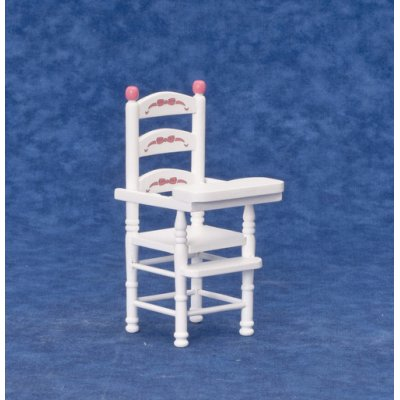 High Chair - White & Pink