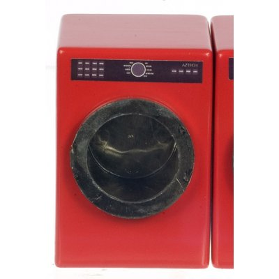 Red Washing Machine/Door Opens to the Left