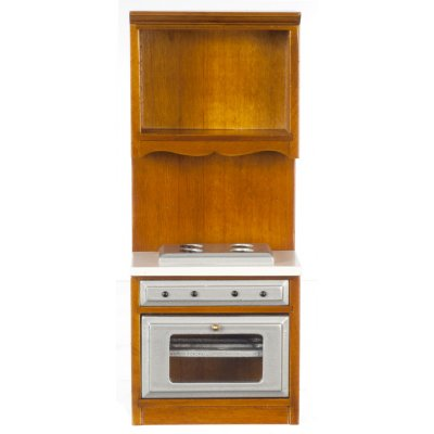 Stove Top & Over w/ Cabinet - Walnut