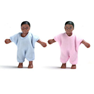 Black Baby Twins - Boy & Girl