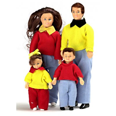 Casual Doll Family 4pc