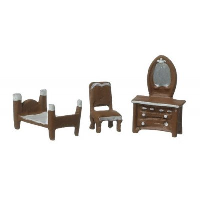 1/4 Inch Single Bedroom Room Set 3pc