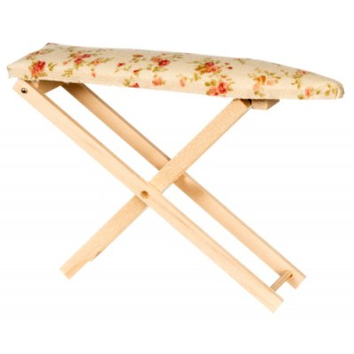 Oak Ironing Board Beige Flower Print Cover 2pc