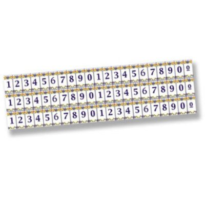 Numeral Mosaic Picture Tile Sheet