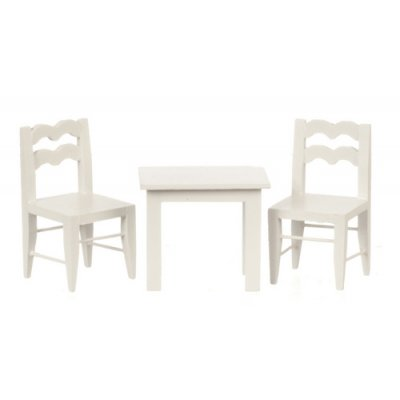 Child's Table w/ 2 Chairs - White