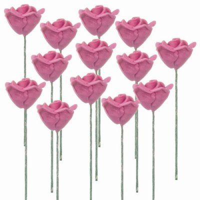 1dz Light Pink Rose Stems
