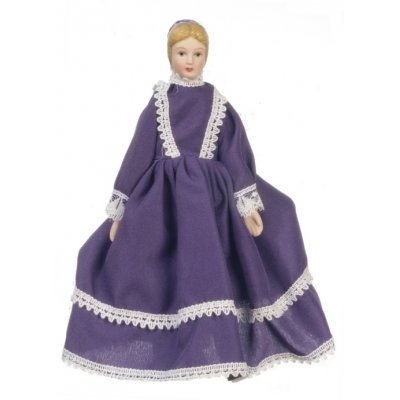 Old Fashioned Porcelain Mother Doll in Floor Length Dress