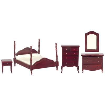 Mahogany Bedroom Set 4pc