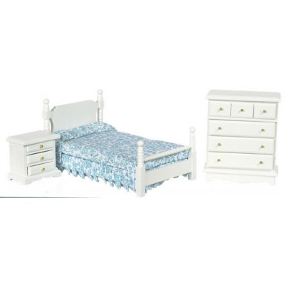 White Bedroom Set w/ 3pc