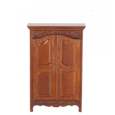 Panelled Wardrobe - Walnut