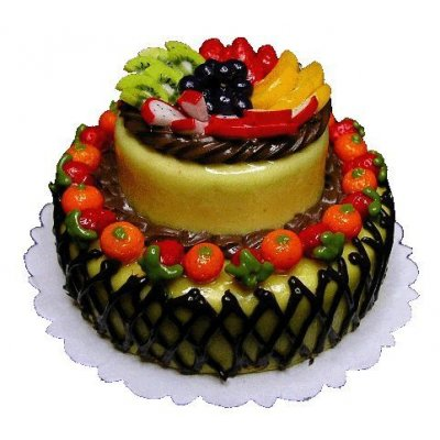Large 2-Tiered Fruit Topped Cake Style 2
