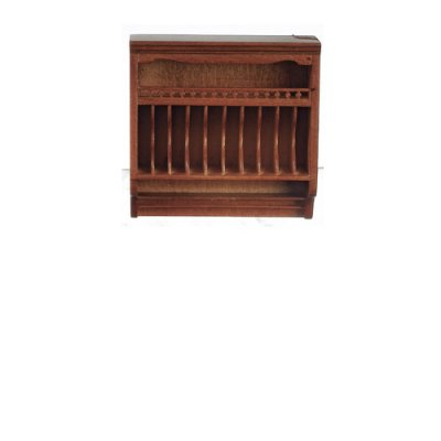 Kitchen Plate Rack - Walnut