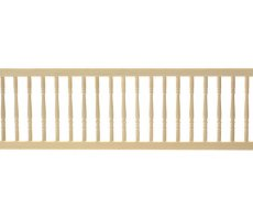 Dollhouse Miniature Porch Railing with Round Rails by Handley House