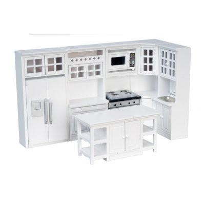 Modern Kitchen Set - White - 8pc