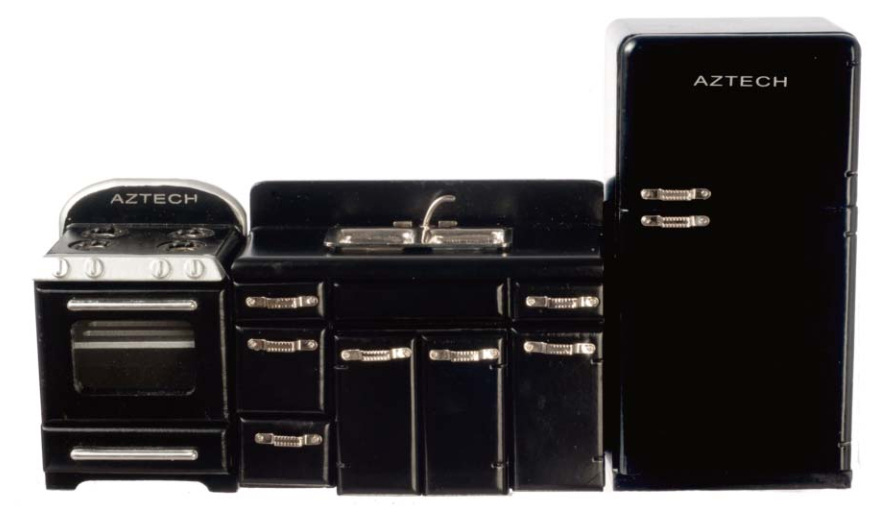 1950s Black Appliance Set - 3pc
