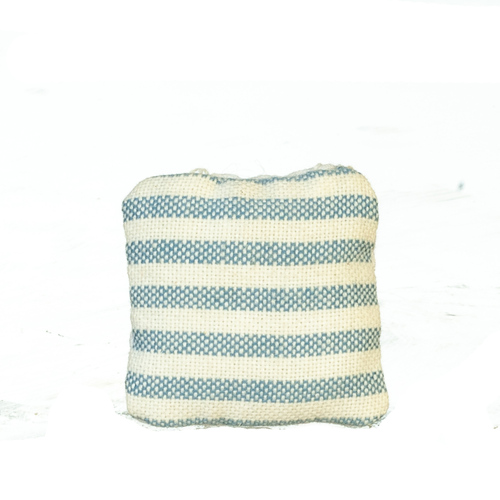 Blue Striped Throw Pillow