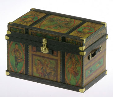 Lithograph Wooden Trunk Kit Fashion