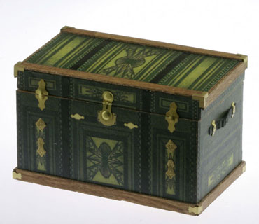 Lithograph Wooden Trunk Kit - Olive Southwestern Design