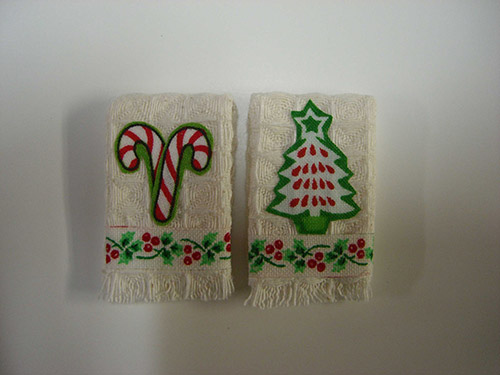 Towel Set - Candy Canes & Christmas Tree