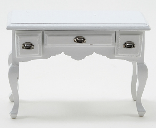 3 Drawer Desk - White