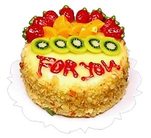 For You Fruit-Topped Cake