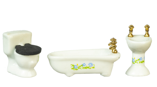 1/2in Scale Bathroom Set - 3pc