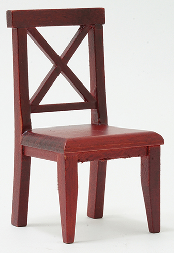 Cross Buck Chair - Mahogany