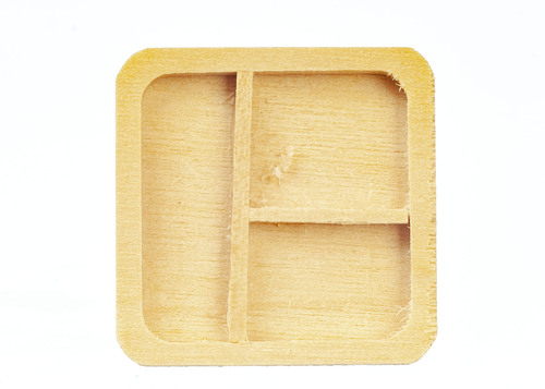 Wooden Partition Tray - Oak