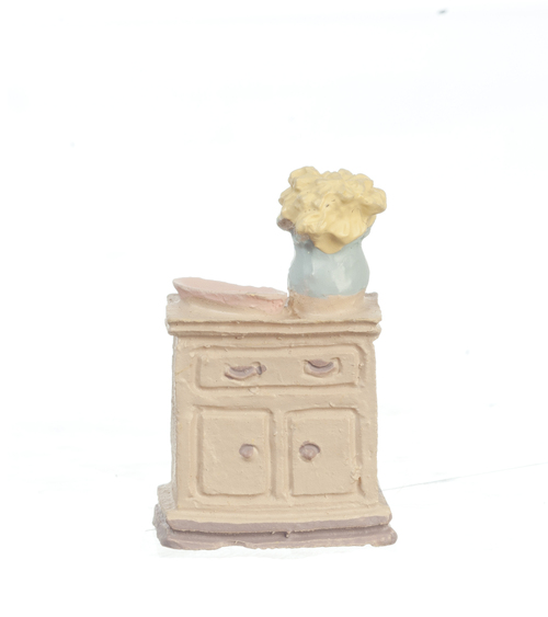 1/4in Scale Washstand w/ Flowers