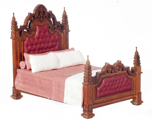 16th Century Gothic Panel Bed