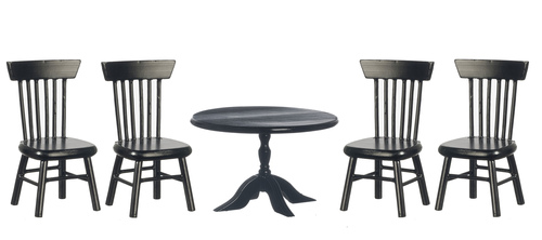 Black Table & 4 Chairs