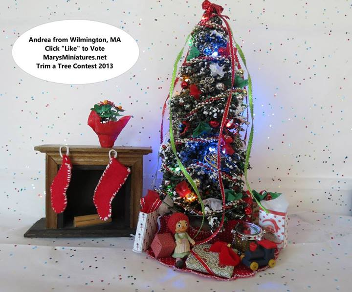 2013 Trim a Tree Contest Winner Andrea, from Wilmington MA.