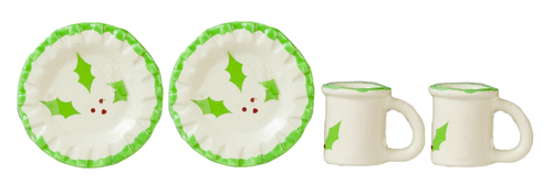Holiday Plates & Mugs 4pc Set