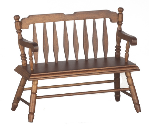 Walnut Deacon's Bench