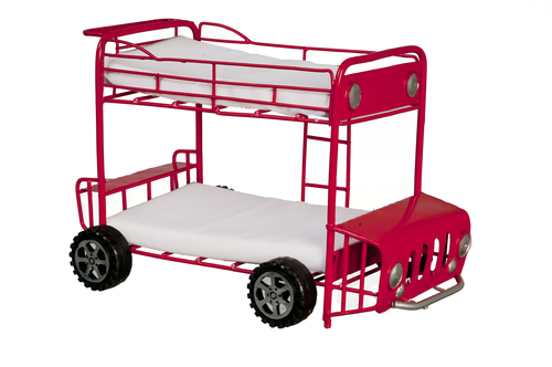Double Decker Bus Bunk Beds - Red