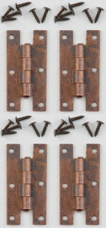 H Hinges w/ Nails Oil Rubbed Bronze 4pc