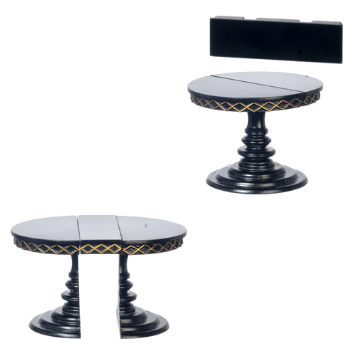 Adjustable Round Table - Black