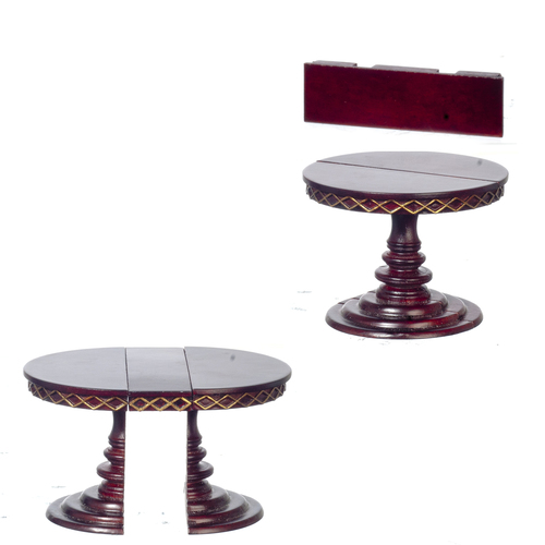 Adjustable Round Table - Mohogany