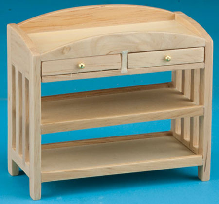 Slatted Changing Table - Oak