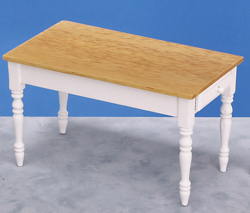 Oak & White Dining Table