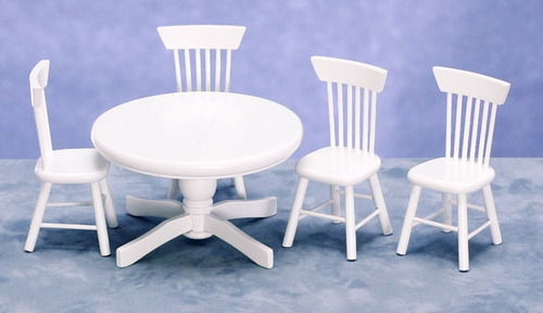 Kitchen Table & Chairs - White