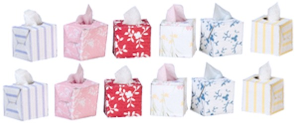 Assorted Tissue Box w/ Tissue
