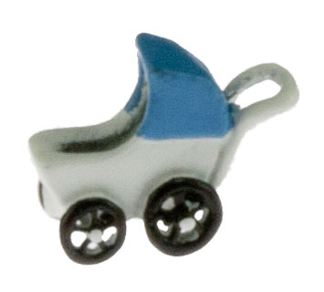 1/4in Scale Blue Baby Carriage