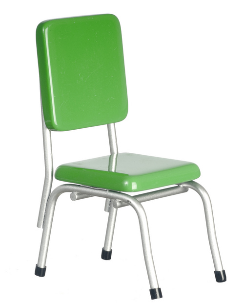 1950s Style Lime Green Dining Chair
