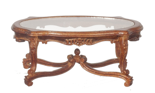 18th Century Glass Top Coffee Table