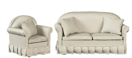 Gray Sofa & Chair Living Room Set - 2pc