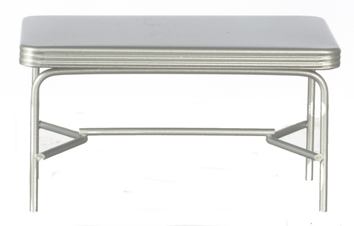 1950s Style Rectangular Dining Table - Silver