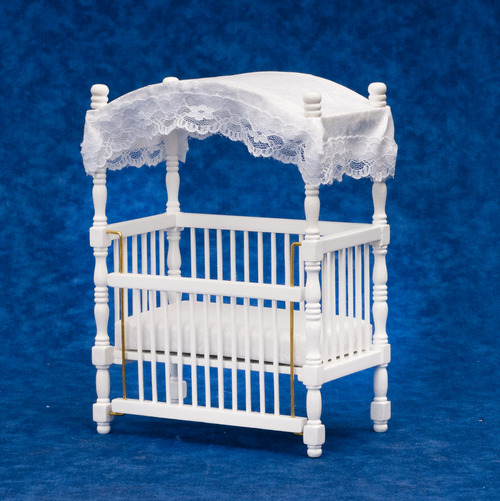 Canopy Crib - White