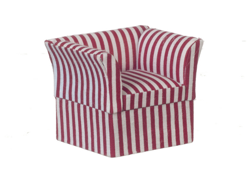 Contemporary Chair Red & White Stripe
