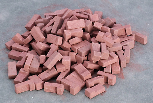 Red Blend Brick Corner 125pc